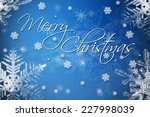 merry christmas greeting card... | Shutterstock . vector #227998039