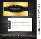 business card template with... | Shutterstock .eps vector #227998129
