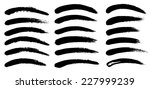black ink vector brush strokes | Shutterstock .eps vector #227999239