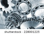 industrial cogwheels and ball... | Shutterstock . vector #228001225