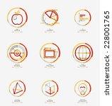 minimal thin line design web... | Shutterstock .eps vector #228001765