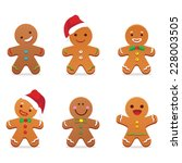 gingerbread man | Shutterstock .eps vector #228003505