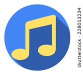 music flat blue simple icon... | Shutterstock .eps vector #228013234