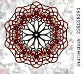 mandala. round ornament pattern.... | Shutterstock .eps vector #228028291