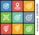 colorful target icons for web... | Shutterstock .eps vector #228030289