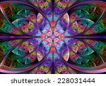 fractal geometry abstract | Shutterstock . vector #228031444