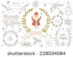 set of hand drawn christmas... | Shutterstock .eps vector #228034084