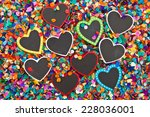 little chalkboard hearts on a... | Shutterstock . vector #228036001