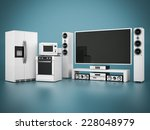 picture of household appliances ... | Shutterstock . vector #228048979
