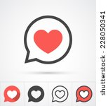 Stock vector heart in speech bubble icon vector illustration 228050341