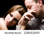 young couple having problems | Shutterstock . vector #228052045