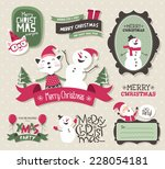 christmas design elements | Shutterstock .eps vector #228054181