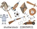 Vintage Wooden Toys Horse...