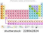 periodic table of elements... | Shutterstock .eps vector #228062824