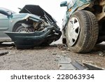 car crash accident on street ... | Shutterstock . vector #228063934