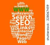 text cloud. seo wordcloud.... | Shutterstock .eps vector #228067459