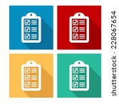 checklist   flat icon with long ... | Shutterstock .eps vector #228067654