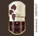 wine label | Shutterstock .eps vector #228070117