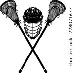lacrosse  equipment front view | Shutterstock .eps vector #228071677