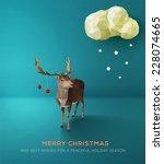 Christmas Card. Geometric...