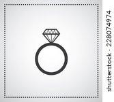 diamond engagement ring vector... | Shutterstock .eps vector #228074974