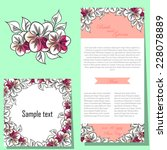 wedding invitation cards with... | Shutterstock .eps vector #228078889