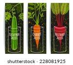 dieting carrot cucumber beet... | Shutterstock .eps vector #228081925
