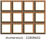 a picture frame on a white | Shutterstock . vector #22808602