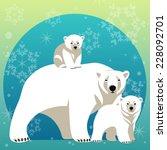 Greeting Card With Polar Bear...