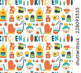 seamless pattern with colorful... | Shutterstock .eps vector #228093535