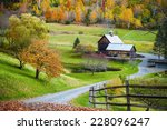 fall foliage  new england... | Shutterstock . vector #228096247