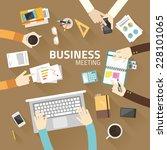 concept business of teamwork... | Shutterstock .eps vector #228101065