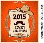 western new year rodeo card...   Shutterstock .eps vector #228118555