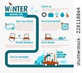winter driving tips... | Shutterstock .eps vector #228118864
