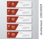 design clean number banners... | Shutterstock .eps vector #228120529