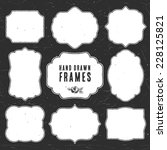 set of vintage chalk frames and ...   Shutterstock .eps vector #228125821