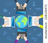 teamwork. concept of global... | Shutterstock .eps vector #228130471