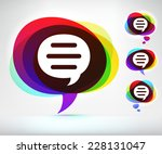 speech bubble on multi color... | Shutterstock .eps vector #228131047