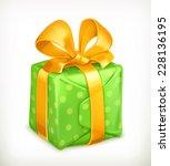 gift box  christmas present 3d... | Shutterstock .eps vector #228136195
