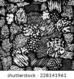 pattern consisting of hand... | Shutterstock .eps vector #228141961