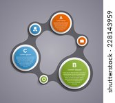 abstract circle infographic in...