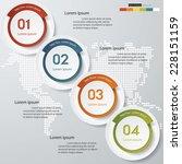 design clean number banners... | Shutterstock .eps vector #228151159