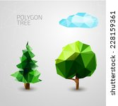 Set Of Polygons Trees. Spruce ...
