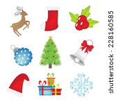 christmas icon set. vector | Shutterstock .eps vector #228160585