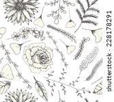 abstract seamless flower pattern | Shutterstock .eps vector #228178291