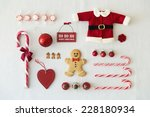 collection of christmas objects | Shutterstock . vector #228180934