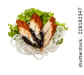 tasty fish salad | Shutterstock . vector #228182347