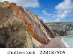 the multi coloured cliffs at... | Shutterstock . vector #228187909