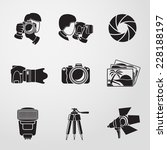 photographer monochrome icons... | Shutterstock .eps vector #228188197