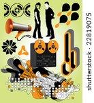 urban design elements  check... | Shutterstock .eps vector #22819075